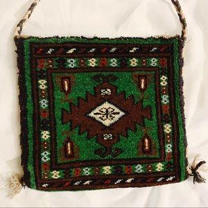 Vintage Handmade Pakistan Carpet Shoulder Bag